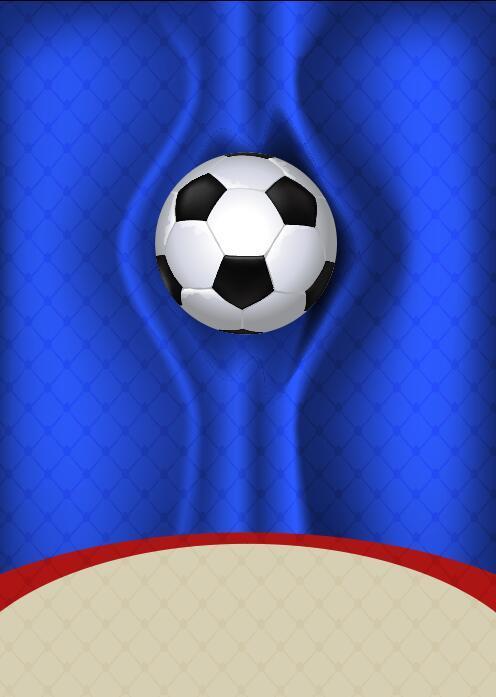 Baln de ftbol sobre fondo azul  Vectores Gratis  WebGenio