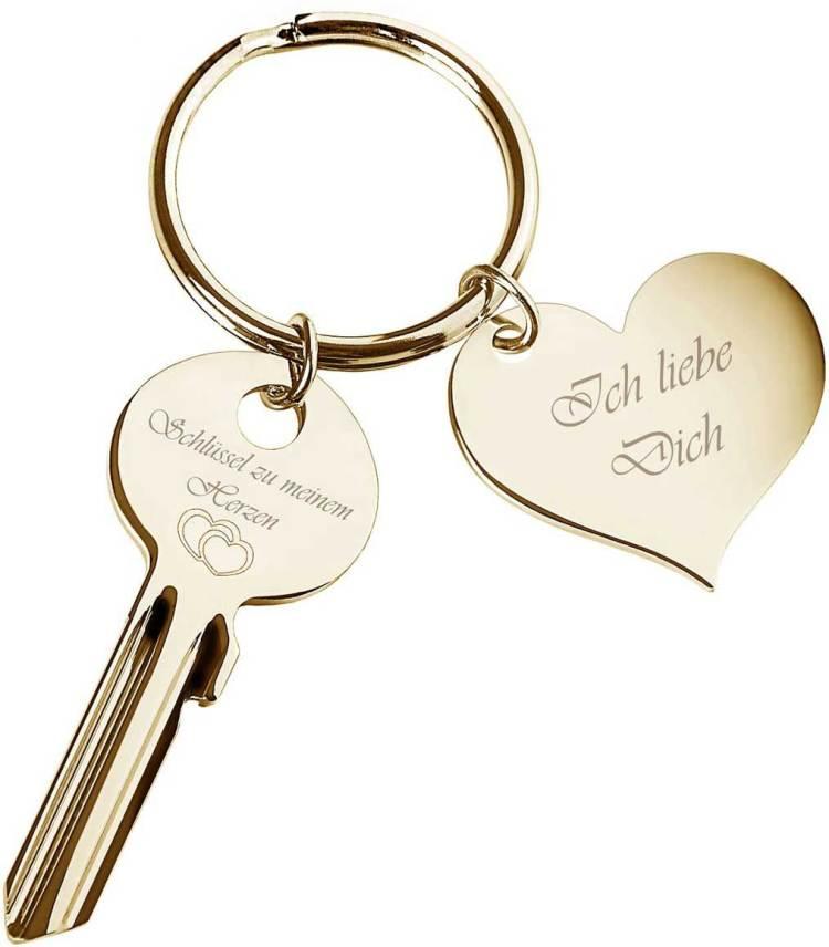 Liebesbeweis goldener Schlüssel zu meinem Herzen