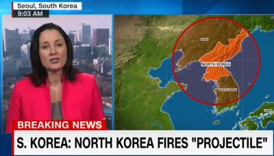 北朝鮮、ミサイル4発を発射 – 日本の排他的経済水域に3発落下