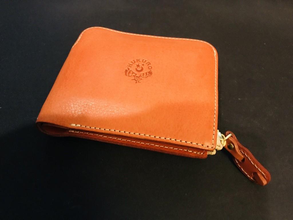 HUKURO 大きく開く小さな財布。小さいのに驚きの収納力|栃木レザー、二つ折り財布