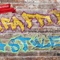 Free | Graffiti Photoshop Text Style
