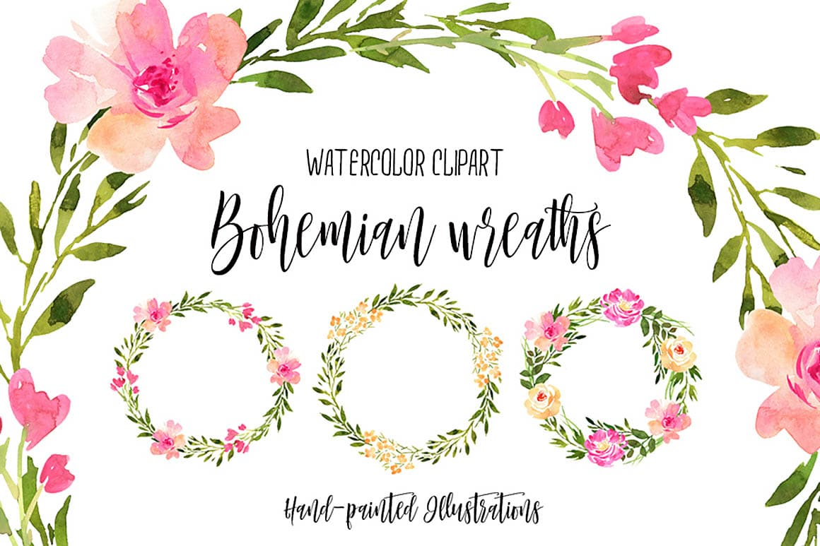 hight resolution of free floral watercolor hand painted wreaths with extended license great for your new artistic style artworks that you can use for your personal and