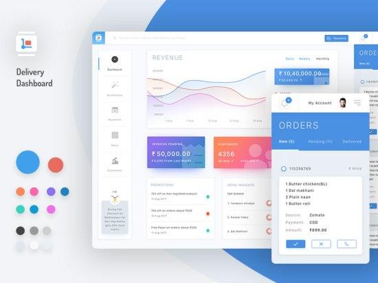 15 Beautiful Gradient Dashboard UI Designs 2017