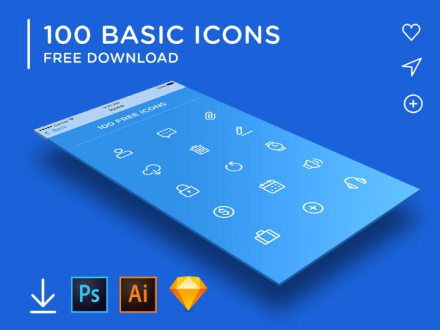 100 Minimal Rounded Icons Free In Vector,PSD & Sketch