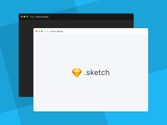 Minimal Browser Mockup Sketch Freebie