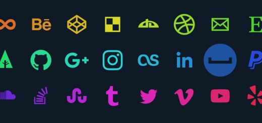 SVG Animated Social Media Icons With Gradient Effect