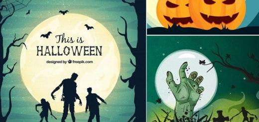 20 Free Halloween Vector Backgrounds Download 2017