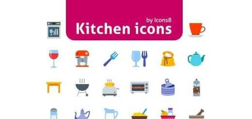 Colorful Kitchen Icons Set Free Download