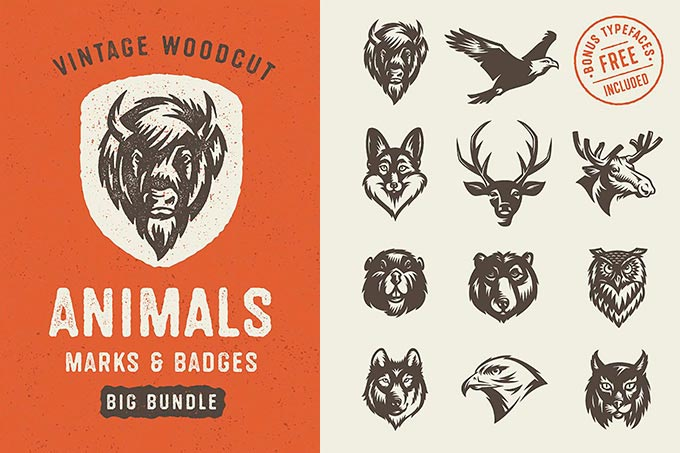 Hand Drawn Savage Animals Vector Bundle Free Download