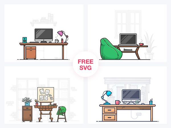 Workspace Illustrations Free Download