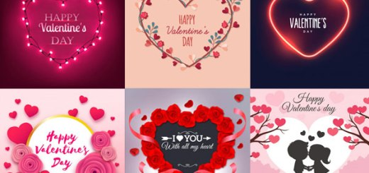 25 free happy valentines day cardwishes background vector