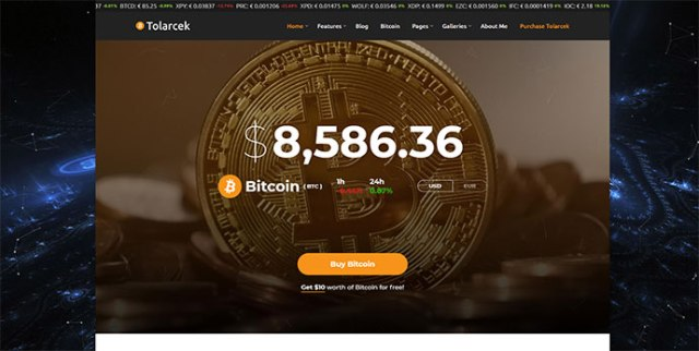 Bitcoin & Cryptocurrency WordPress Themes
