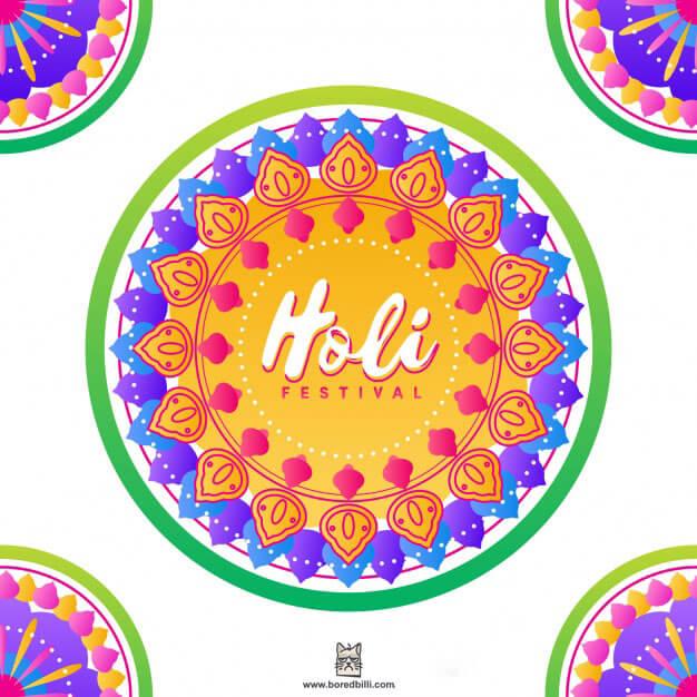 happy holi facebook