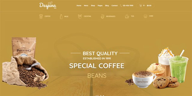 premium coffee wordpress themes