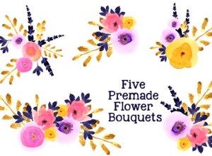 Floral Watercolor Bouquets