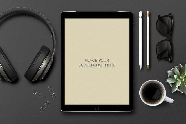 black iPad Pro Mockups