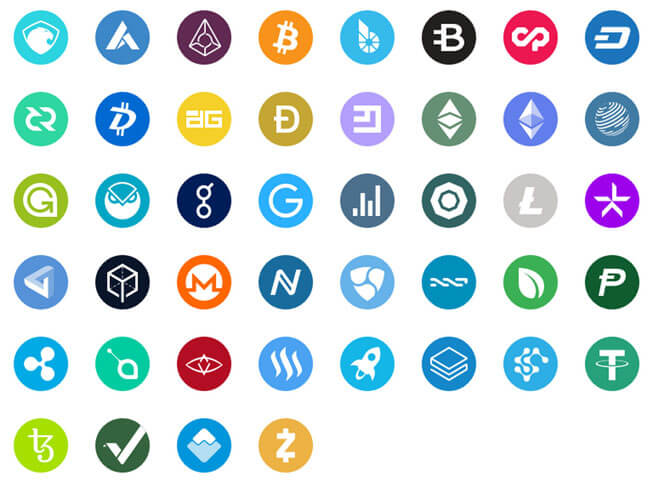crytpo currency icons free