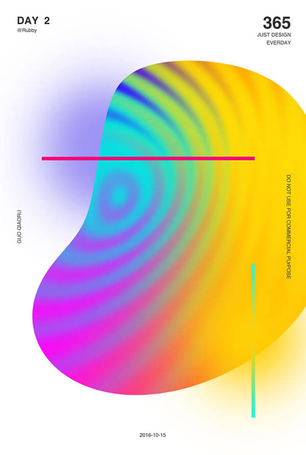 Gradient Poster Designs 2018