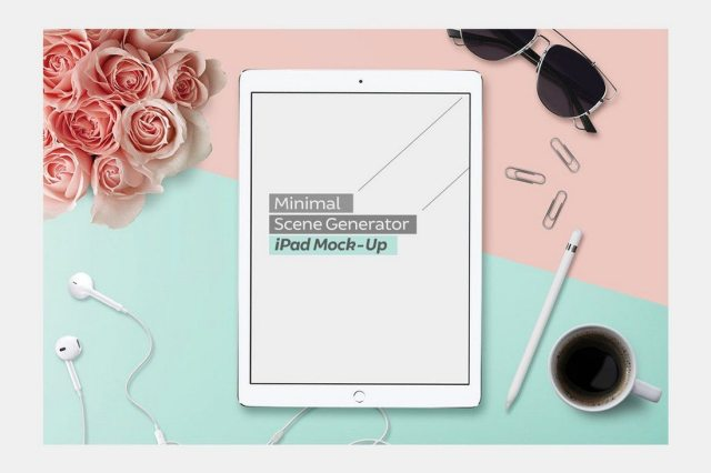 Realistic Apple iPad Pro Mockups