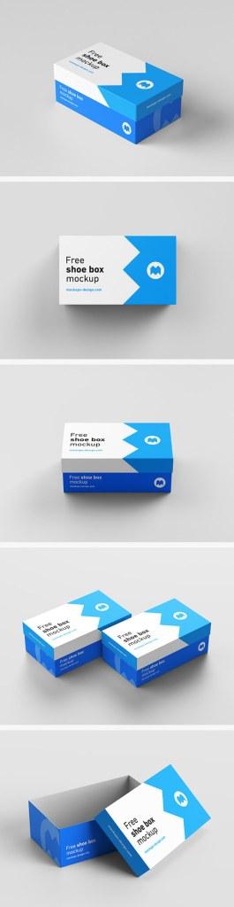 Free Realistic Box Mockups PSD Download
