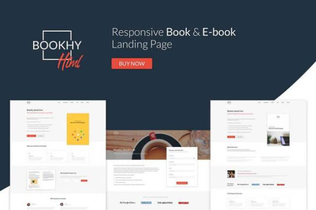 book landing page templtes html5