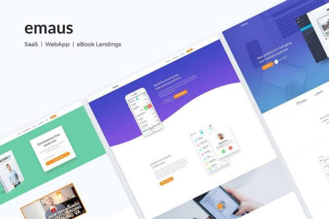 html5 landing page templates