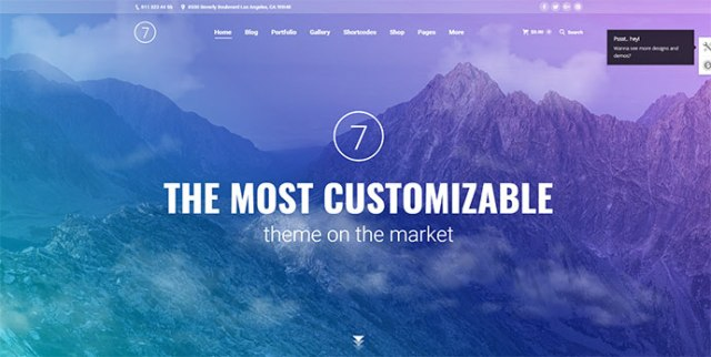 Gradient Design WordPress Themes