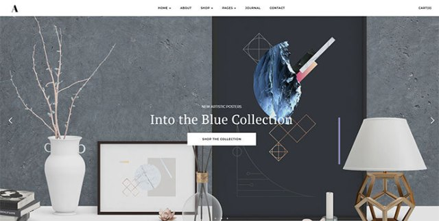 wordpress theme for selling art