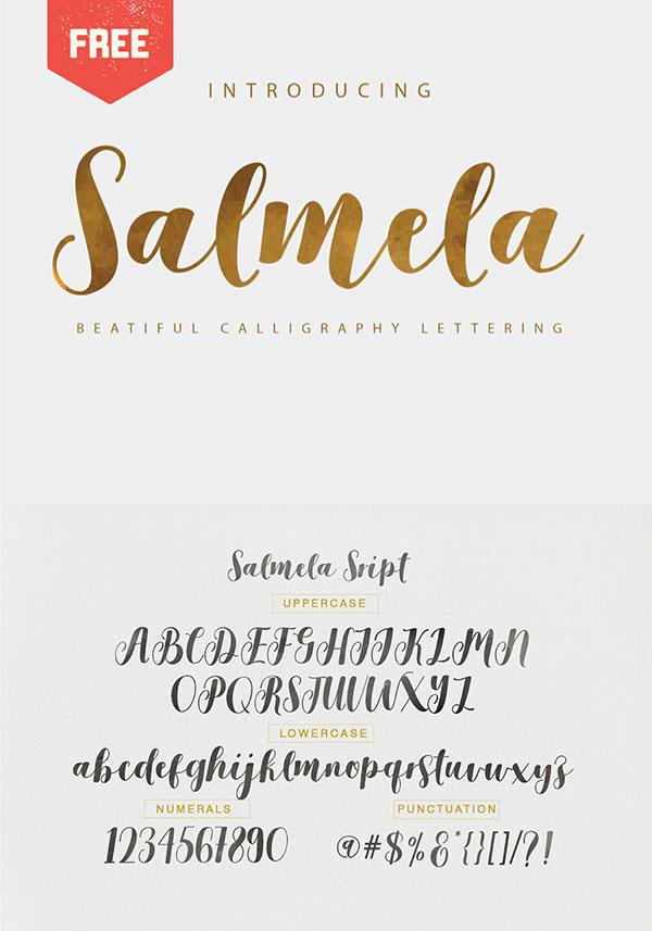 Salmela Free Calligraphy Fonts