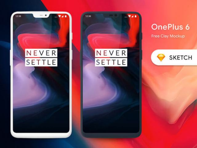 Realistic One Plus 6 Mockups Free Download