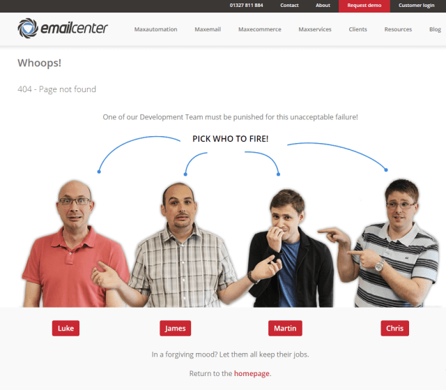 404 error pages examples
