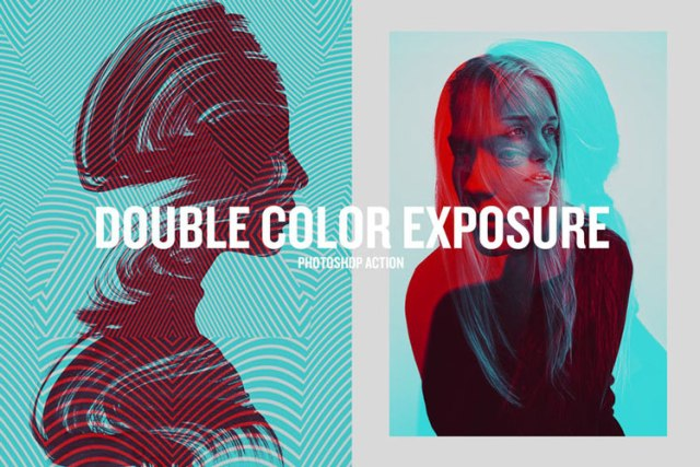 Double Color Exposure Best Creative Photoshop Actions