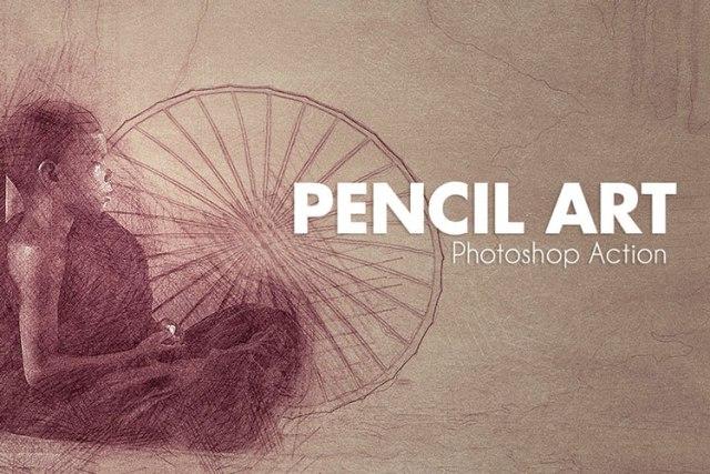 Pencil Art Photoshop Actions