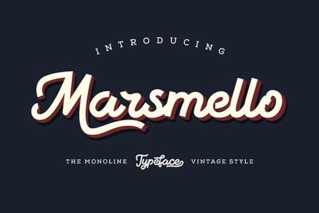 Script Fonts For Vintage Design