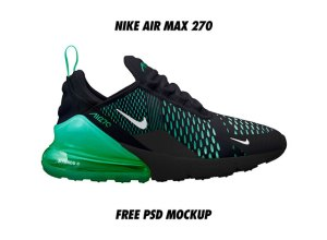 Nike Air Max 270 Mockup PSD Free Download
