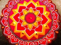diwali easy rangoli design