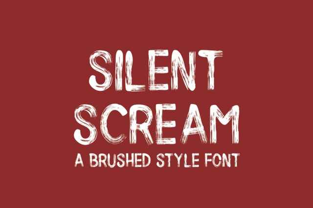 Brush Style Halloween Fonts