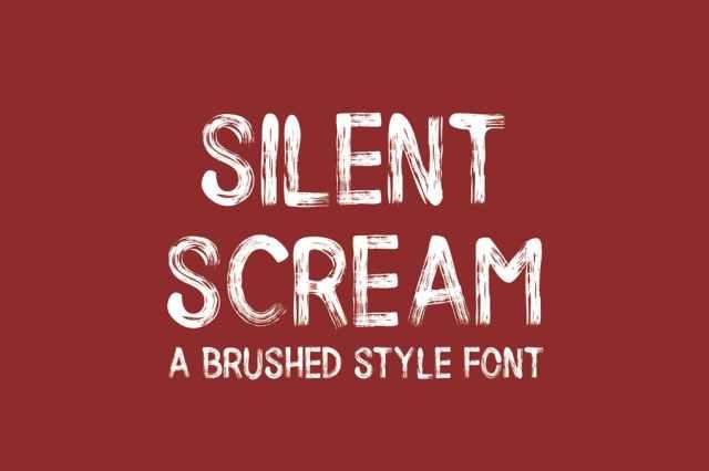 Brush Style Halloween Fonts