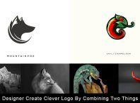 Designer Create Clever Logo By Combining Two Things