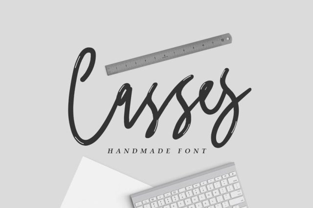 handwritten logo design font