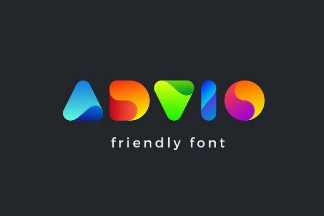 color font for logo design
