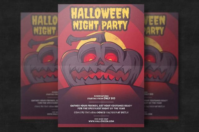 Halloween Pumpkin Flyer Templates