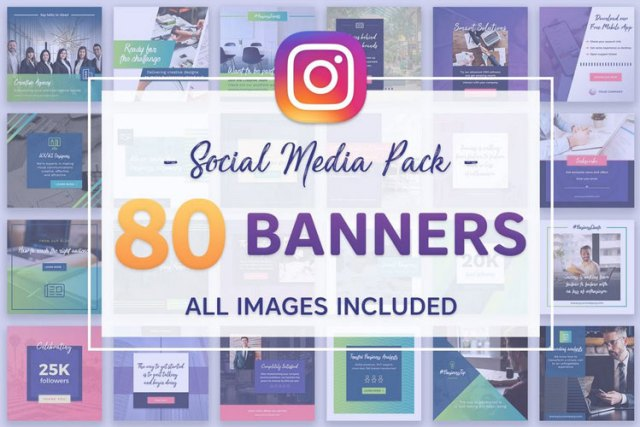 instagram multipurpose post and story template