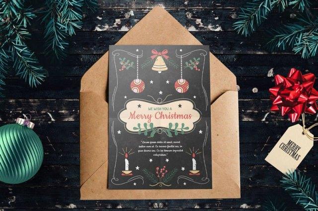 Beautiful Christmas Card PSD Template