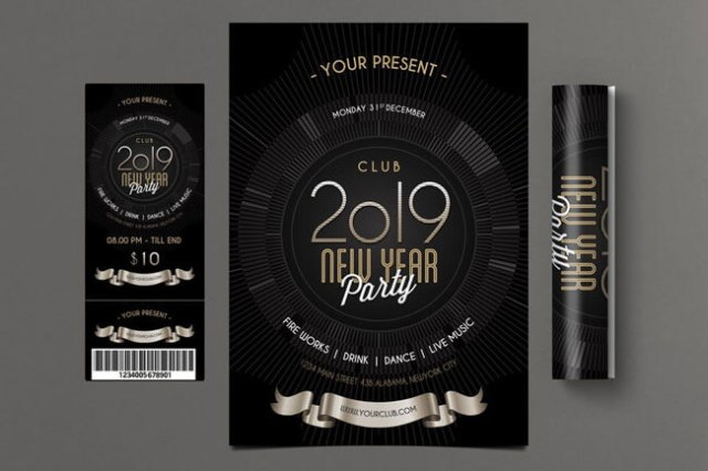 Happy New Year Flyer Templates 2019