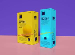 Realistic Boxes Packaging Mockup