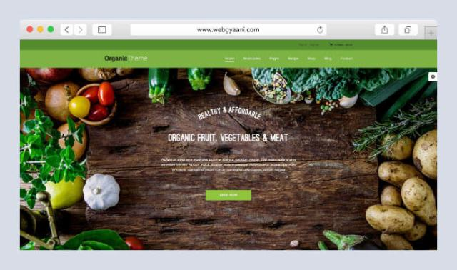 organic farm wordpress theme