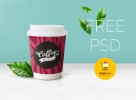 Free Beautiful Coffee Cup Mockup PSD