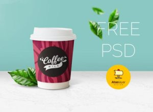 Free Beautiful Coffee Cup Mockup PSD