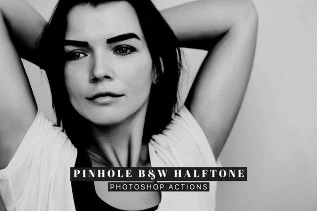 Halftone Best Black & White Photoshop Actions
